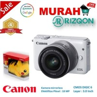 CANON EOS M10 Kit EF M 15 45mm IS STM Kamera Mirrorless Gratis Pokem