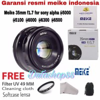 lensa meike 35mm F1 7 manual focus lens aps c for sony mirrorless al