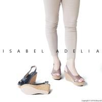 Sepatu Sandal Wanita Wedges Hitam Coklat Isabel DEBBIE e04798151a