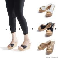 Sepatu Sandal Wanita Wedges Putih Hitam Coklat Isabel FARAH cd6f940c7f