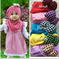 Jilbab bayi pita samping kotak