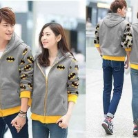 Jaket bolak balik [Couple Jaket Batman Abu LO] jaket couple batman