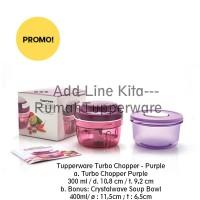 Tupperware Turbo Chopper Purple FREE Crystalwave Soup Bowl