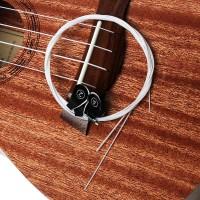 Ukulele 4 PcsSet Putih Nylon Hawaii Empat Senar Gitar Ukelele