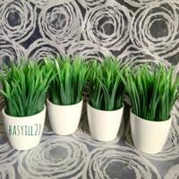 Tanaman hias rumput palsu / bunga plastik / dekorasi / rumput sintetis