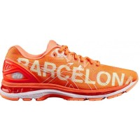 Sepatu Lari Womens Asics Gel Nimbus 20 Barcelona Orange T8B7N3030