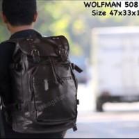 tas cowok wolfman 508 black tas pria tas import tas ran Limited