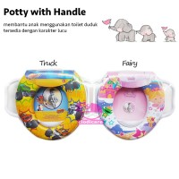 Baby Potty Seat with Handle Training Potty Bayi