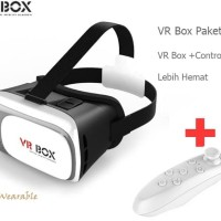 VR Box Virtual Reality Cardboard 2.0 + VR Box Bluetooth Remote Gamepad