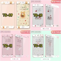 Casing hp Tempered Glass Cartoon Series Iphone Oppo Vivo Xiaomi Screen