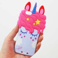 Casing hp TPU SOFT CASE 3D SLEEPING UNICORN IPhone 5 6 7 Oppo F5 F1s