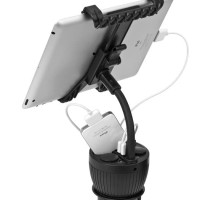 Car Charger Cup Holder With Tablet Mount (Cd-Caapipad-C301)