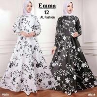 Maxi Emma Sakura Baju Muslim Wanita Gamis Model Kekinian Terbaru