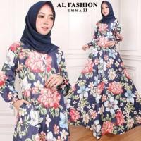 Maxi Emma 11 Baju Muslim Wanita Gamis Model Kekinian Terbaru
