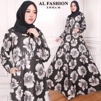 Maxi Emma 6 Bunga Baju Muslim Wanita Gamis Model Kekinian Terbaru
