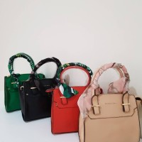 Harga charles and keith shoulder bag with scarf hand bag tas | Pembandingharga.com