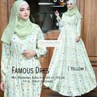 Gamis Motif Famous Dress Original Naura