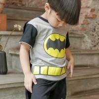 Baju Setelan Anak Laki-Laki Dessan Batman Bersayap NEW
