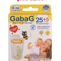 Gabag kantong asi 30 kantung asip Breastmilk Storage 180ml orange 25+5