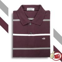FACE Red Jam - Baju Pria Crocodile Men Polo Shirt - Slim Fit - Bahan