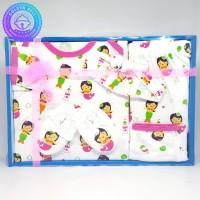 Baby Gift Set Newborn Girl Setelan Lengan Panjang Mermaid Pink