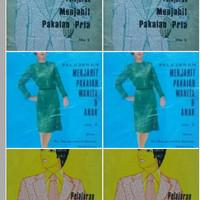Pelajaran Menjahit Pakaian (1 Set 3 Buku Pria Wanita dan Anak)