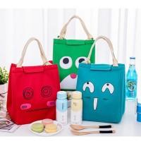 H1N lunch bag tas bekal lunch cooler bag bonus 2pcs jelly ice cooler