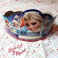 Topi Ultah Frozen / Topi Lingkar Frozen / Topi Ulang Tahun Frozen