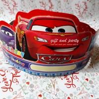 Topi Ultah Cars / Topi Lingkar Cars / Topi Ulang Tahun Cars