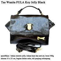 Tas Jelly Kulit Wanita FULA Key black