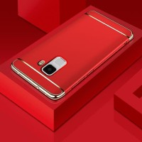 Hardcase 3in1 Plating Chrome Cover Case Casing HP Samsung A6 Plus 2018