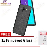 Case Auto Focus Softcase Samsung J6 2018 - Hitam + Free Tempered Glass