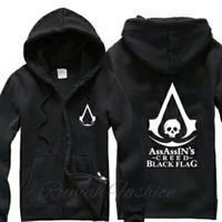 Jaket Sweater Hoodie Zipper Assassin Creed Black Flag - Unisex