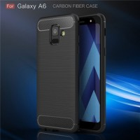 Case Ipaky Carbon Fiber SAMSUNG A6 2018 Softcase Shockproof TPU