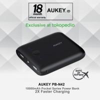 aksesoris hp powerbank bagus Aukey PB N42 Pocket 10000mAh Power Bank