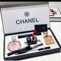 CHANEL SET 5in1 / CHANEL PARFUM/CHANEL PAKET KOSMETIK/GIFT SET