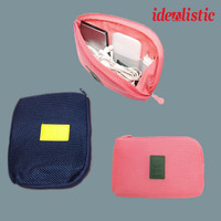 Pouch Gadget Dompet Hp Travel Organizer Power bank Charger & Cable