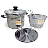 Deep Fryer stainless pot multifungsi 3 in 1 - 22cm