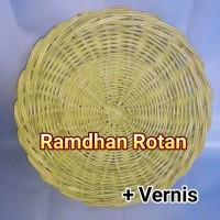 Piring Rotan Vernis - Piring Berbahan Rotan Pernis - Piring Cirebon