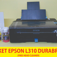 Printer Epson L310 Paket Tinta Durabrite 60ml Free Head Cleaner