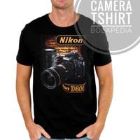Kaos KAMERA CAMERA 3D Baju Distro Pakaian Pria Fotografi Canon Nikon