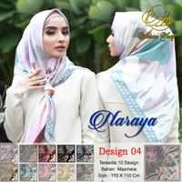 Hijab jilbab scarf segiempat motif maxmara satin Naraya 4 ecer grosir