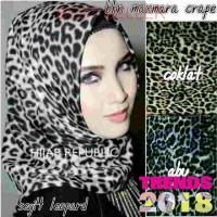 Kerudung hijab jilbab segi empat leopard motif macan