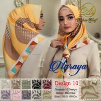 Hijab jilbab scarf segiempat motif maxmara satin naraya 10 ecer grosr