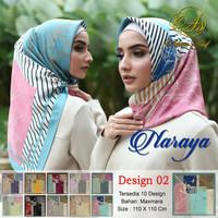 Hijab jilbab scarf segiempat motif maxmara naraya 2 ecer n grosir