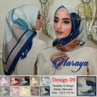 Hijab jilbab scarf segiempat motif maxmara satin naraya 9 ecer grosir