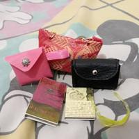 Satu set / tas barbie / buku mini / kacamata barbie /barbie stuf