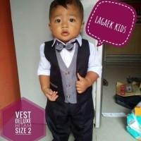 VEST ANAK 0-1-2-3-4-5 tahun DELUXE/setelan vest resmi hitam BEST QUALI