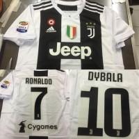 835cf1e1a7a Jersey Baju Kaos Juve Juventus Home 18 19 PATCH SERIE A FREE NAMESET