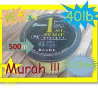 Senar Benang Pancing PE4 Kuning-Murah Bagus X4 0.33mm-40lb-500m